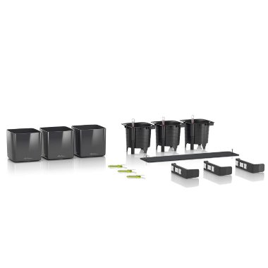 Lechuza Green Wall Home Kit Glossy Антрацитовый блестящий — Black-orchid.ru