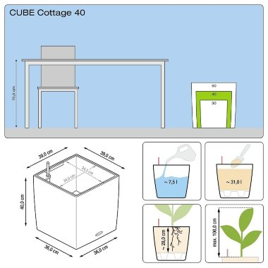 Lechuza Cube Cottage 40 Мокка — Black-orchid.ru