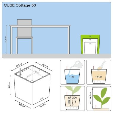 Lechuza Cube Cottage 50 Мокка — Black-orchid.ru